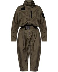 DIESEL Jumpsuit With Standing Collar - Green