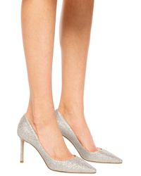 Jimmy Choo 'romy' Court Shoes Silver - Metallic