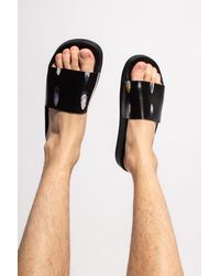 Marcelo Burlon Rubber Slides Black