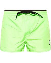DIESEL Swim Shorts With Logo Neon - Green
