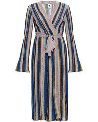 M Missoni Striped Cardigan - Blue