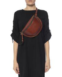 Isabel Marant Studded 'skano' Belt Bag - Brown