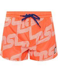 DIESEL Swim Shorts With Logo - Orange
