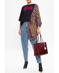 Versace Jeans Couture Asymmetric T-shirt - Black