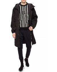 Dolce & Gabbana Hooded Rain Coat Black
