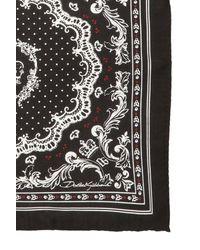 Dolce & Gabbana Patterned Pocket Square Black