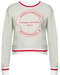 Sonia Rykiel - Logo Sweatshirt - Lyst