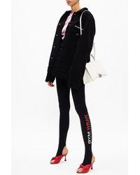 Balenciaga Leggings With Logo Black