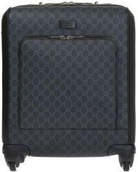 Gucci 'GG Supreme' Canvas Suitcase - Black