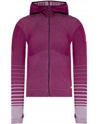 EA7 Sweatshirt With Stitching - Purple