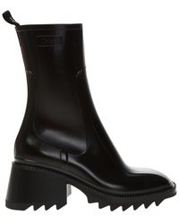 Chloé 'betty' Heeled Ankle Boots - Black
