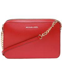 MICHAEL Michael Kors - Large Ew Crossbody Handbag Leather - Lyst
