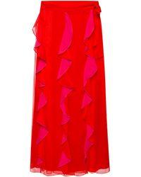 Diane von Furstenberg Ruffled Skirt - Red