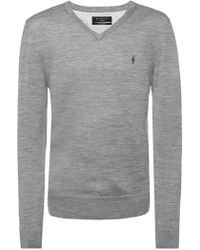 AllSaints - 'mode' Logo-embroidered Sweater - Lyst
