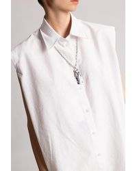 Acne Studios Necklace With Shell Pendant - Metallic