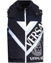 Versace Vest With Logo - Blue