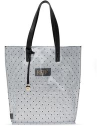 RED Valentino Transparent Shopper Bag Black
