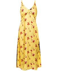 R13 Raw Edge Slip Dress Yellow