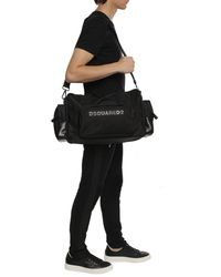 DSquared² Branded Holdall Bag Black
