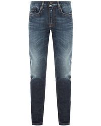 Dirk Bikkembergs Jeans With Side Stripes - Blue