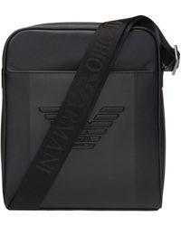 Emporio Armani Shoulder Bag With Logo - Black