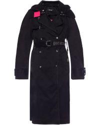 DIESEL - Coat With A Detachable Appliqué - Lyst