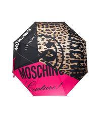 Moschino Umbrella With Logo Unisex Black
