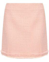 Tory Burch Tweed Mini Skirt - Pink
