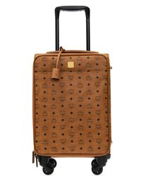 MCM Branded Suitcase - Brown