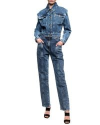 Versace High-waisted Jeans - Blue
