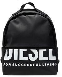 DIESEL 'f-bold Back Fl Ii' Logo Backpack - Black