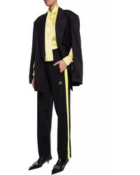 Balenciaga Side Stripe Trousers Black