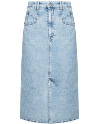 Isabel Marant Denim Skirt - Blue