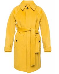 Diane von Furstenberg Wool Coat With Belt - Yellow