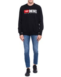 DIESEL Division Crew Sweatshirt - Black