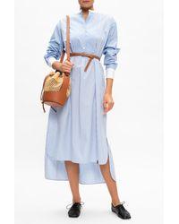 Loewe Striped Dress - Blue