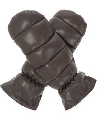 Nanushka Quilted Gloves - Brown