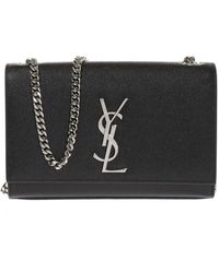 Saint Laurent 'monogram Kate' Shoulder Bag - Black