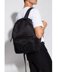 Versace Jeans Couture Logo-appliquéd Backpack - Black
