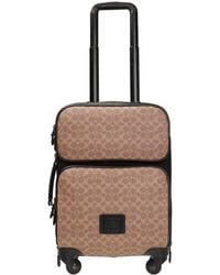 COACH Academy Travel Wheeled Carry On In Signature Canvas - Black
