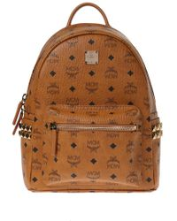 MCM 'stark' Leather Backpack - Brown