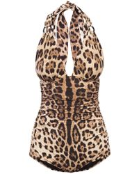 Dolce & Gabbana One-piece Swimsuit - Brown