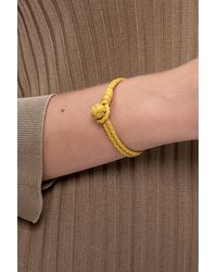 Bottega Veneta Leather Bracelet Yellow
