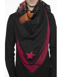 Givenchy 'rottweiler' Motif Shawl Unisex Black
