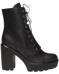 Giuseppe Zanotti Leather Heeled Ankle Boots Black