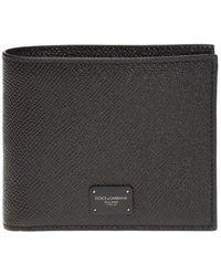 Dolce & Gabbana Branded Bifold Wallet - Black