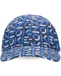 KENZO Branded Baseball Cap Unisex Navy Blue