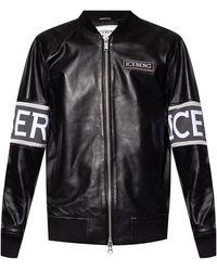 Iceberg Bomber Jacket - Black