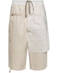 Rick Owens Drkshdw Pants With Inset Pockets - Natural