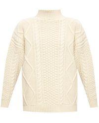 Agnona Rib-knit Turtleneck Jumper - Natural